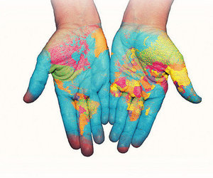 earth and hands image