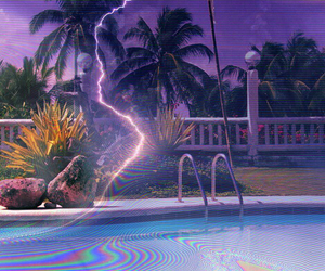 grunge, lightning, and pool image
