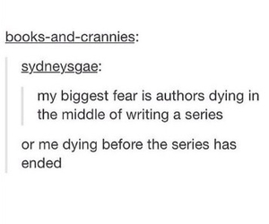 authors, dying, and series image