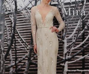 wedding dress, white, and mira zwillinger image
