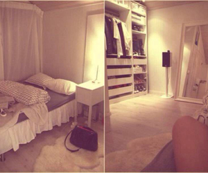 bed, bedroom, and style image