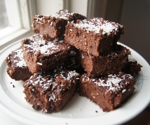 brownies, dessert, and yummy image