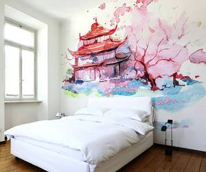 bedroom, art, and painting image