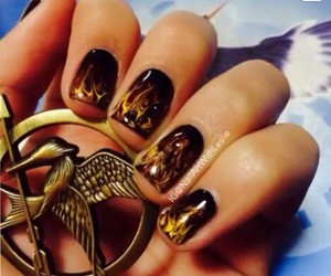 amazing, nails, and the hunger games image