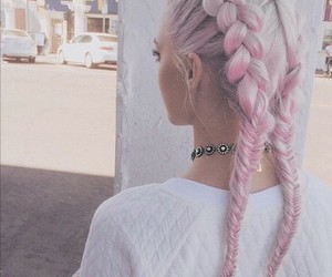 hair, lovely, and pink image