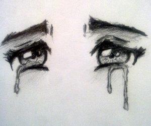 eyes, sad, and art image