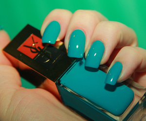 nails, blue, and YSL image