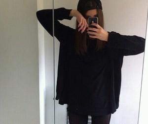 black, tumblr, and instagram image