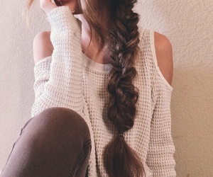 fashion, braid, and girl image