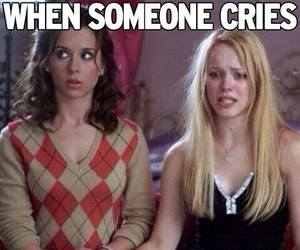 funny, cry, and mean girls image
