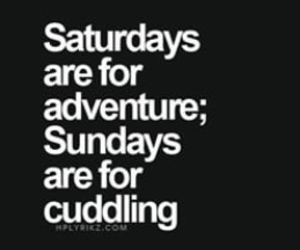 Sunday, adventure, and cuddling image