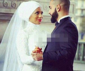 muslim, amour, and couple image
