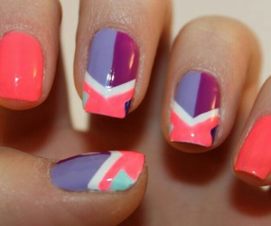 nail art, pink, and black image