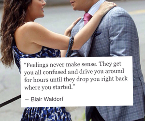 blair waldorf, chuck bass, and I Love You image