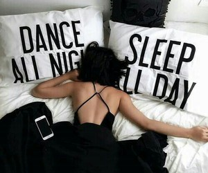 bed, black, and Dream image