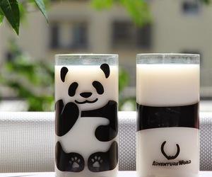 panda, milk, and animal image