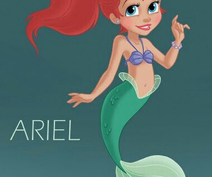 disney, mermaid, and ariel image