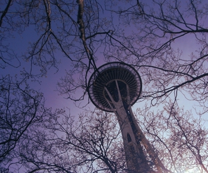 seattle, Space Needle, and trees image