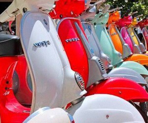 colourful, Vespa, and cool image