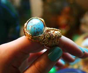 ring, blue, and nails image