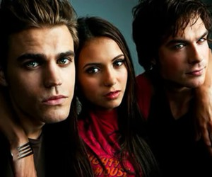 Nina Dobrev, the vampire diaries, and paul wesley image