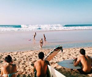 amigos, praia, and friends image