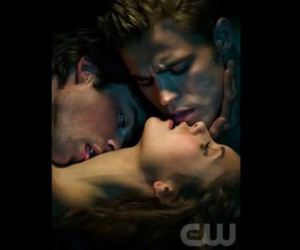 ian somerhalder, elena gilbert, and damon salvatore image