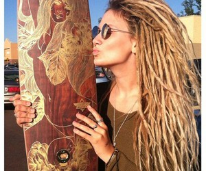 beautiful, dreads, and blond image