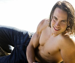 "beach, sexy""bare chested"", and taylor kitsch image"
