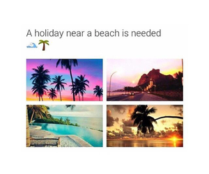 beach, nature, and relaxing image