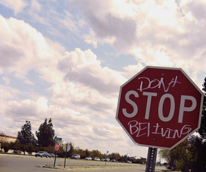 believe, stop, and stop sign image