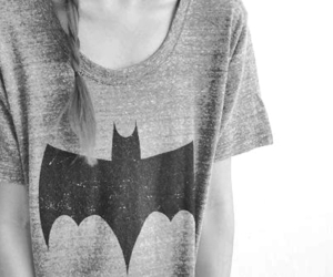 batman, girl, and t-shirt image