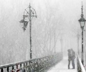 kiss, love, and snow image