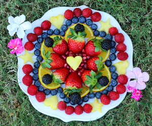 berries, colorful, and flowers image