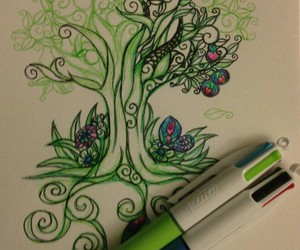 green, tree, and colors image