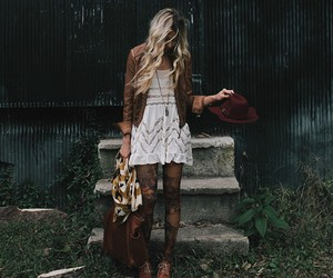 girl, boho, and fashion image