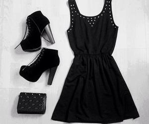 black, classy, and party image
