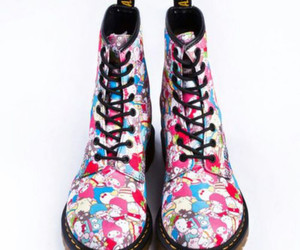 boots, hello kitty, and dr martens image