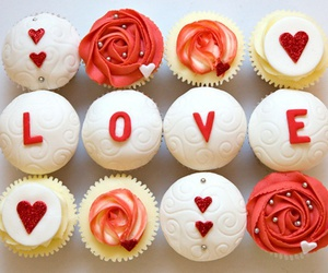 cupcake, love, and food image
