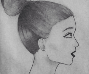 art, blanco y negro, and lip image