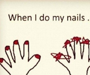 funny, nails, and girly image