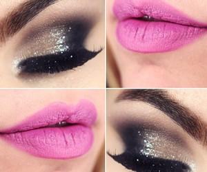 eyes, make up, and pink image