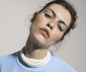 girl, blue, and make up image