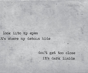 demons, quote, and eyes image