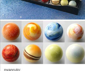 chocolate, solar system, and tumblr post image