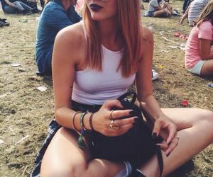 girl, grunge, and festival image