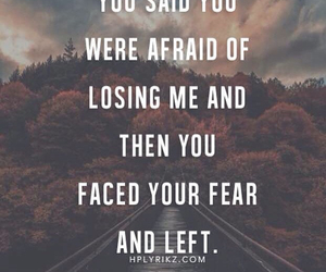 fear, left, and quote image