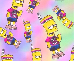 bart, simpsons, and wallpaper image