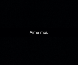 amour, black, and Citations image
