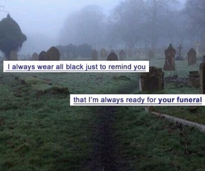 funeral, grunge, and black image